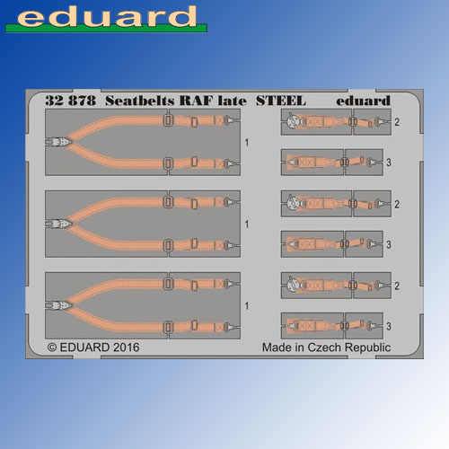 STEEL Seatbelts RAF Late 1:32 Eduard Photoetch