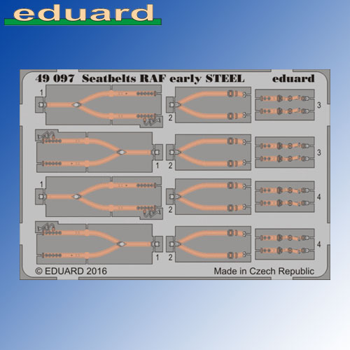 STEEL Seatbelts RAF Early 1:48 Eduard Photoetch