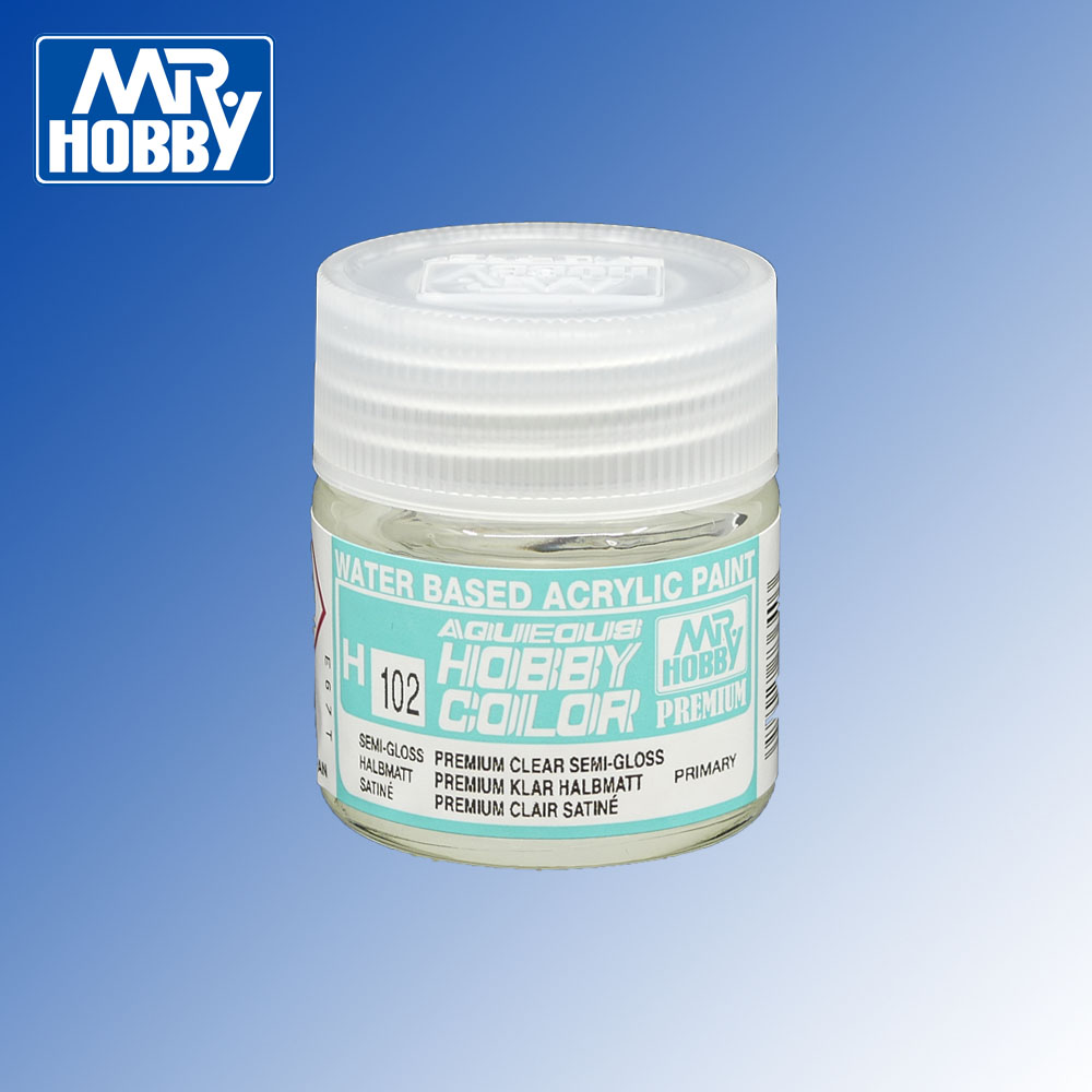 H-102 Premium Clear Semi-Gloss Aqueous Hobby Colour 10ml