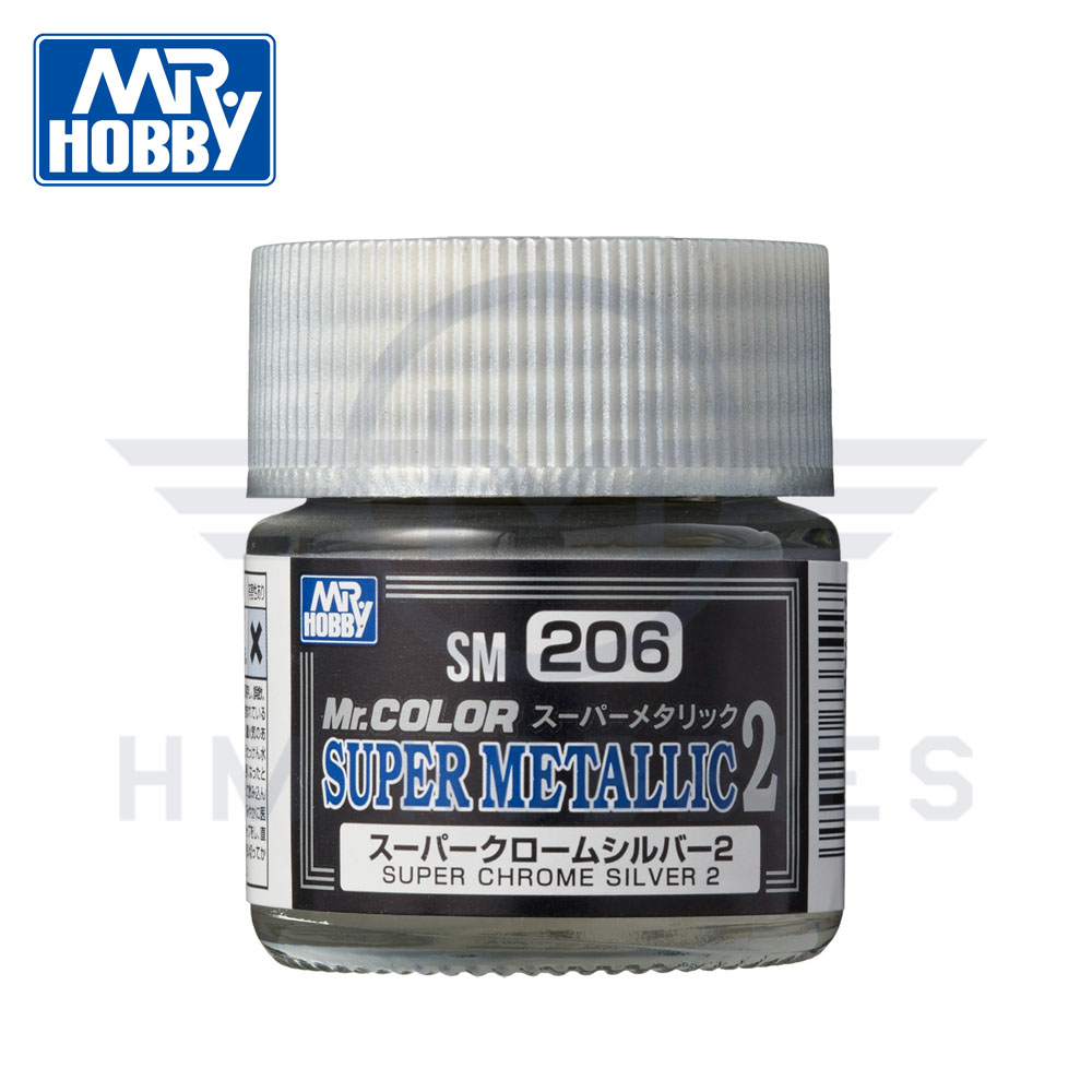 SM-206 Super Chrome Silver 2 Super Metallic 10ml