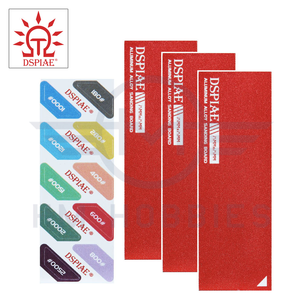 Aluminium Large Sanding Board Set with Stickers Red DSPIAE