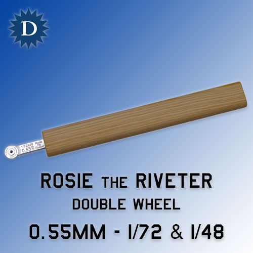 Rosie the Riveter 0.55mm Double Wheel (1/72 & 1/48) Dousek