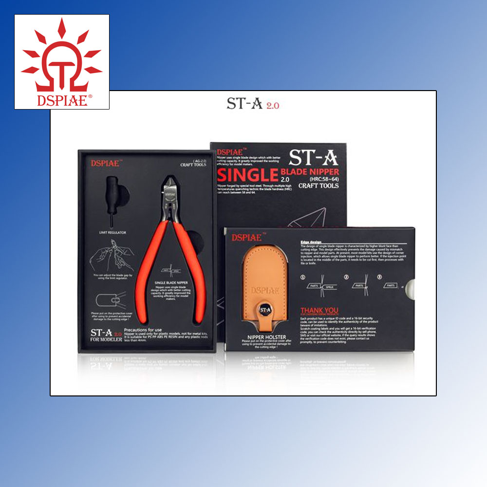 ST-A 2.0 Single Edged Fine Modelling Cutters for Plastic DSPIAE