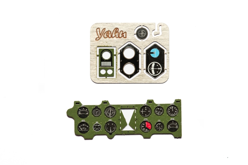 A6M2 Zero (Mitsubishi Green) Coloured Photoetch Instrument Panels - ''JustStick'' Ready to fit (designed for Trumpeter kits) 1:24 Yahu Models