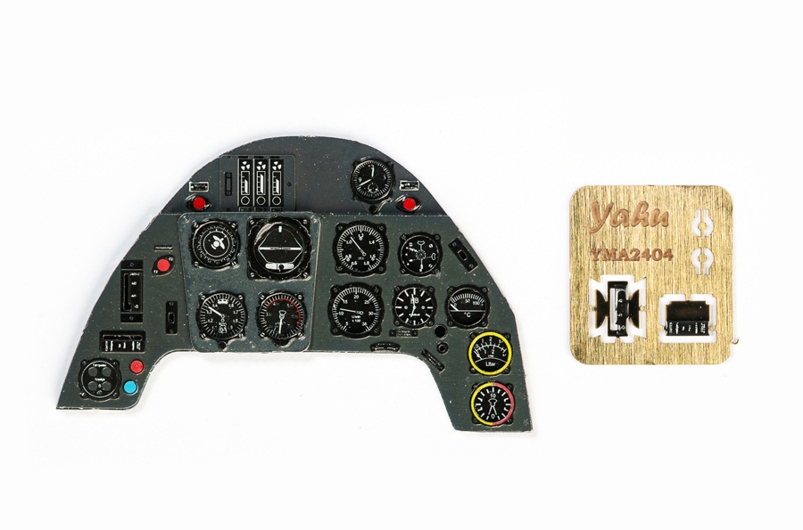 Me Bf109G Coloured Photoetch Instrument Panels - ''JustStick'' Ready to fit (designed for Trumpeter kits) 1:24 Yahu Models