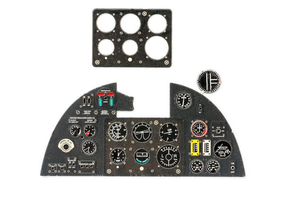 Hurricane I Coloured Photoetch Instrument Panels - ''JustStick'' Ready to fit (designed for Airfix kits) 1:24 Yahu Models