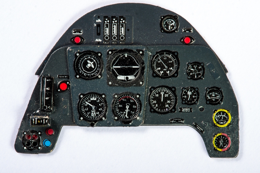 Me Bf109G Coloured Photoetch Instrument Panels - ''JustStick'' Ready to fit (designed for Revell kits) 1:32 Yahu Models