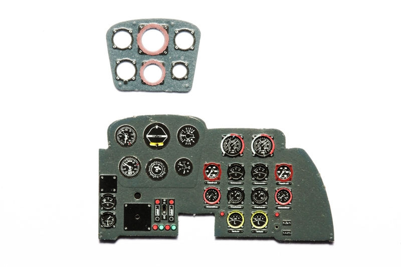 Me-262 A Coloured Photoetch Instrument Panels - ''JustStick'' Ready to fit (designed for Trumpeter kits) 1:32 Yahu Models