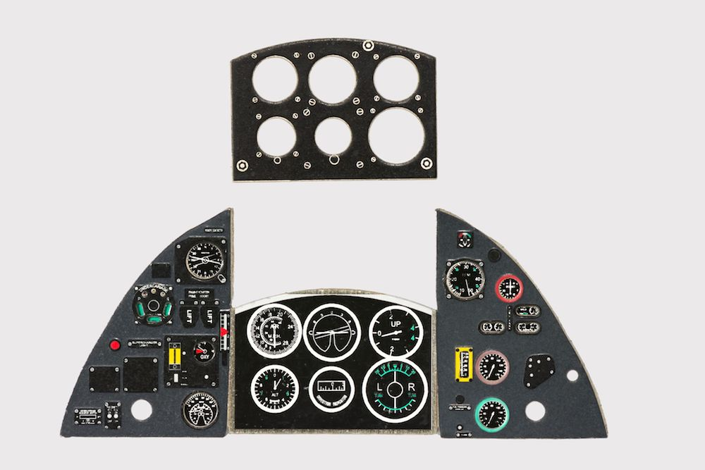 Tempest Mk II Coloured Photoetch Instrument Panels - ''JustStick'' Ready to fit (designed for Special Hobby kits) 1:32 Yahu Models