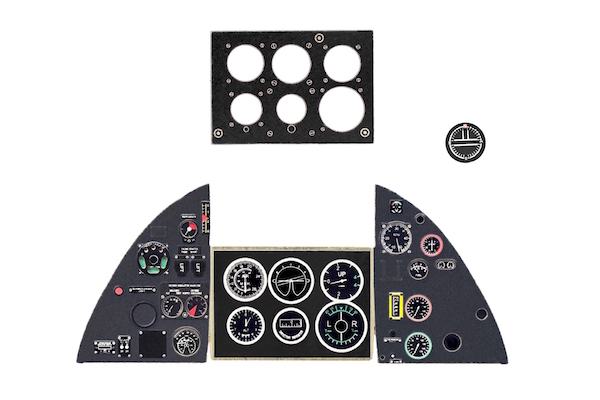 Tempest Mk V Coloured Photoetch Instrument Panels - ''JustStick'' Ready to fit (designed for Special Hobby kits) 1:32 Yahu Models