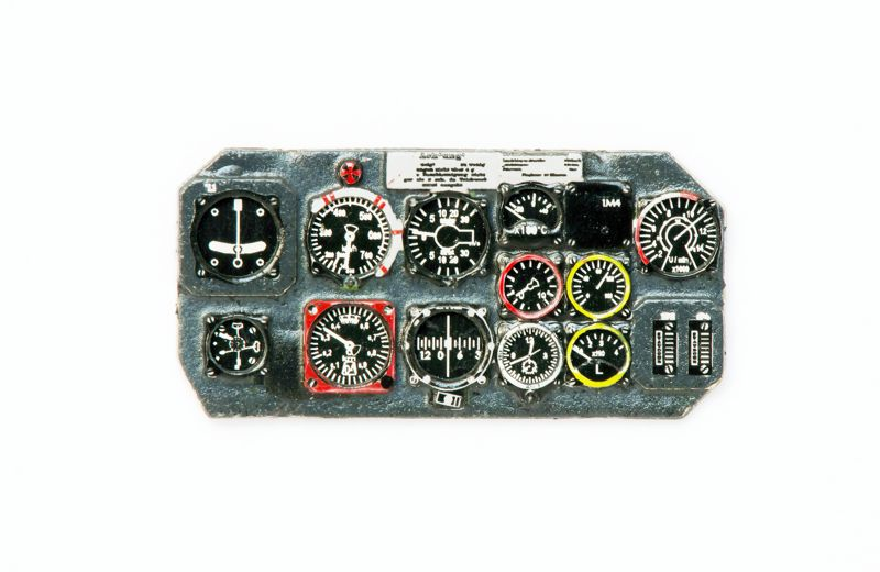 He-162 Salamander Coloured Photoetch Instrument Panels - ''JustStick'' Ready to fit (designed for Revell/MPM kits) 1:32 Yahu Models