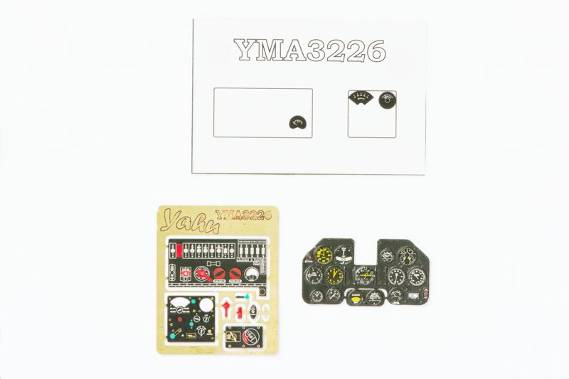 P-40 N Early (N1 Ð N5) Coloured Photoetch Instrument Panels - ''JustStick'' Ready to fit (designed for Hasegawa/Eduard kits) 1:32 Yahu Models
