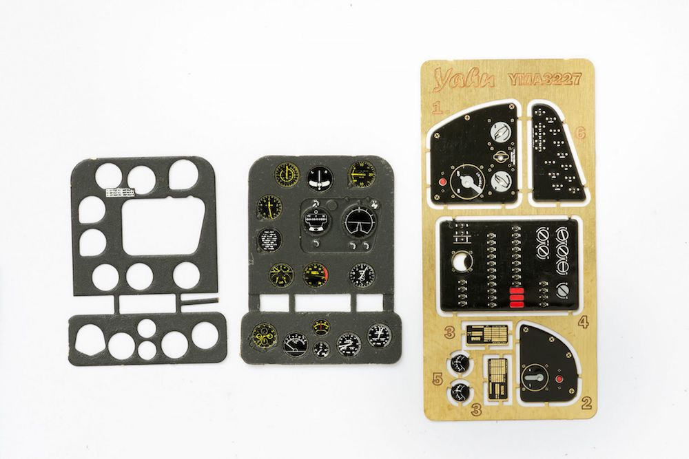 Dauntless Early Type (SBD-1/4) Coloured Photoetch Instrument Panels - ''JustStick'' Ready to fit (designed for Trumpeter kits) 1:32 Yahu Models