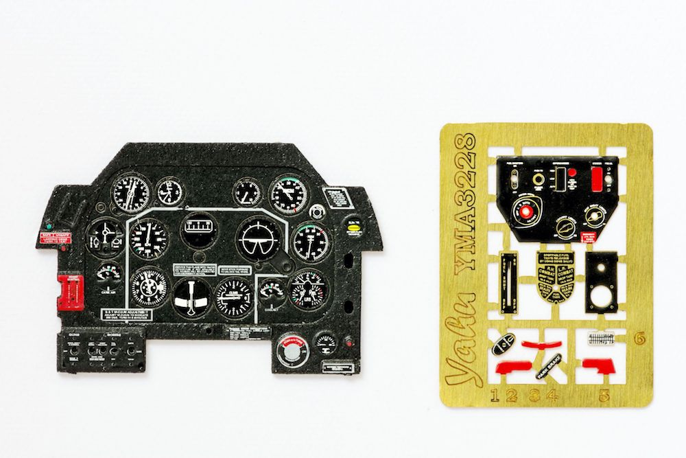 P-51D early Mustang IV Coloured Photoetch Instrument Panels - ''JustStick'' Ready to fit (designed for Revell kits) 1:32 Yahu Models
