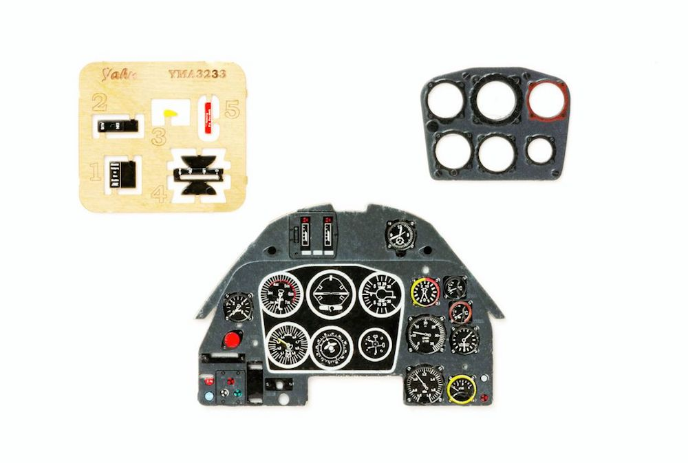 Me 109 K Coloured Photoetch Instrument Panels - ''JustStick'' Ready to fit (designed for Hasegawa (Revell) kits) 1:32 Yahu Models