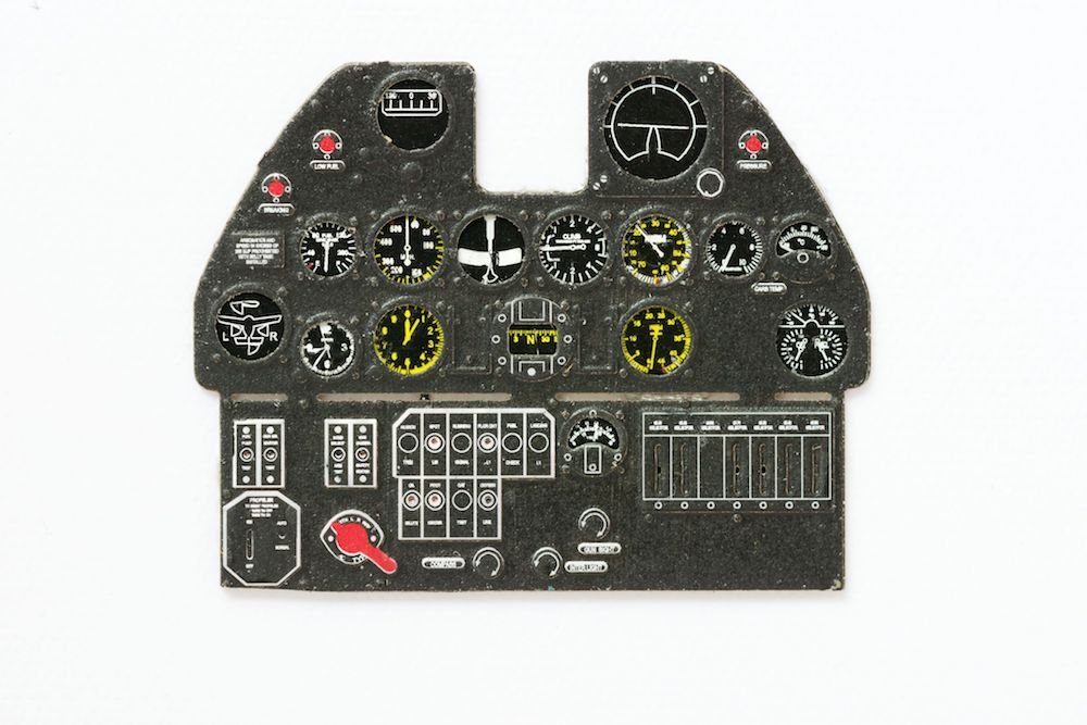 P-40 E Coloured Photoetch Instrument Panels - ''JustStick'' Ready to fit (designed for Hasegawa kits) 1:32 Yahu Models