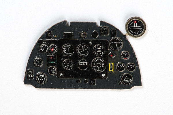 Spitfire Mk Vb early Coloured Photoetch Instrument Panels - ''JustStick'' Ready to fit (designed for Airfix kits) 1:48 Yahu Models