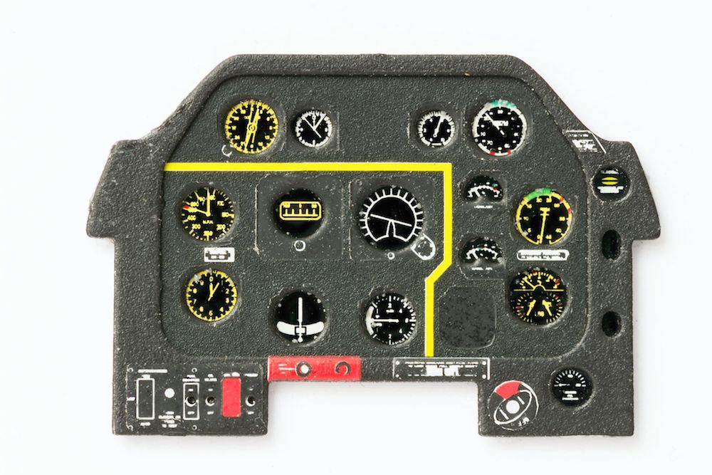P-51 D Early Coloured Photoetch Instrument Panels - ''JustStick'' Ready to fit (designed for Meng/Hasegawa/Airfix/Eduard kits) 1:48 Yahu Models