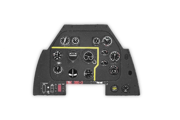 P-51D late Coloured Photoetch Instrument Panels - ''JustStick'' Ready to fit (designed for Tamyia kits) 1:48 Yahu Models