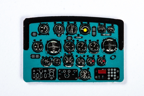 Mil Mi-2 Coloured Photoetch Instrument Panels - ''JustStick'' Ready to fit (designed for Aeroplast kits) 1:48 Yahu Models