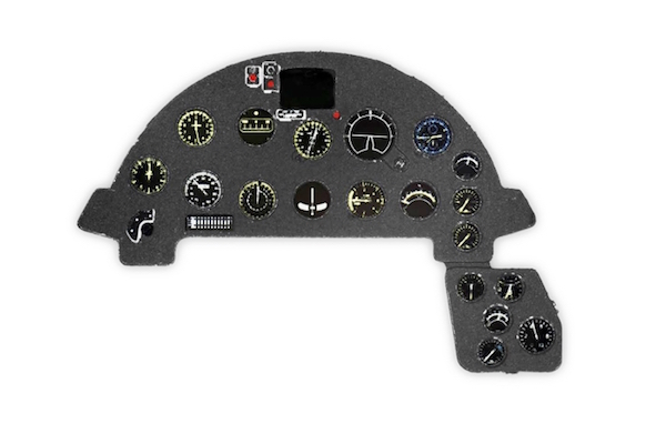F4U-1A Corsair Coloured Photoetch Instrument Panels - ''JustStick'' Ready to fit (designed for Tamiya kits) 1:48 Yahu Models