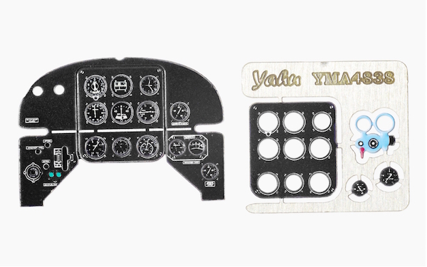 Yak-3 early Coloured Photoetch Instrument Panels - ''JustStick'' Ready to fit (designed for Eduard / Zvezda kits) 1:48 Yahu Models