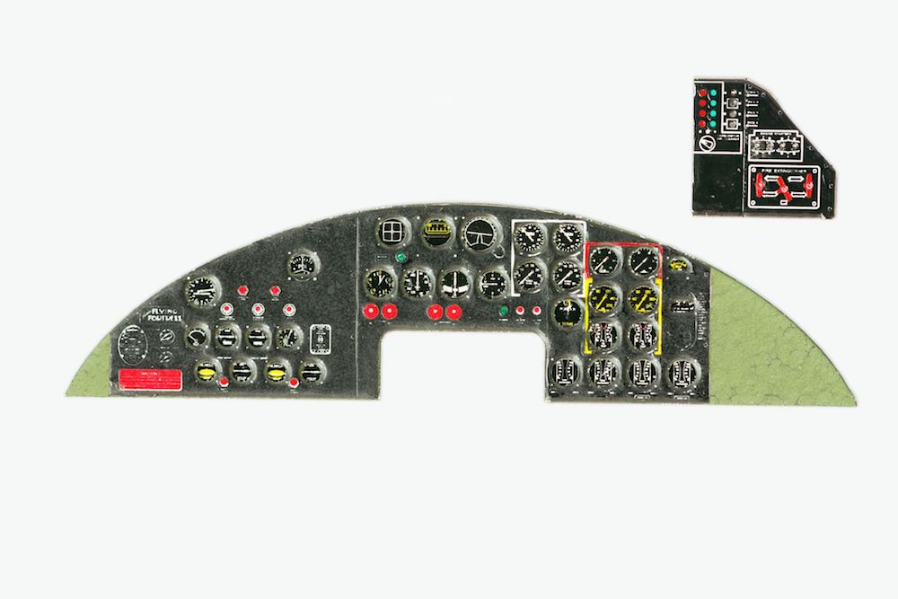 B-17 Flying Fortress Coloured Photoetch Instrument Panels - ''JustStick'' Ready to fit (designed for Revel/Monogram/Hasegawa kits) 1:48 Yahu Models
