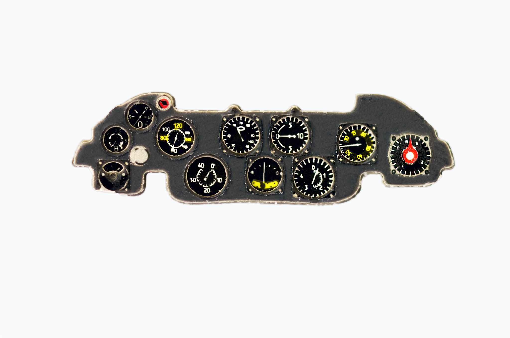 Fiat CR.32 Coloured Photoetch Instrument Panels - ''JustStick'' Ready to fit (designed for Special Hobby/Classic Airframes kits) 1:48 Yahu Models
