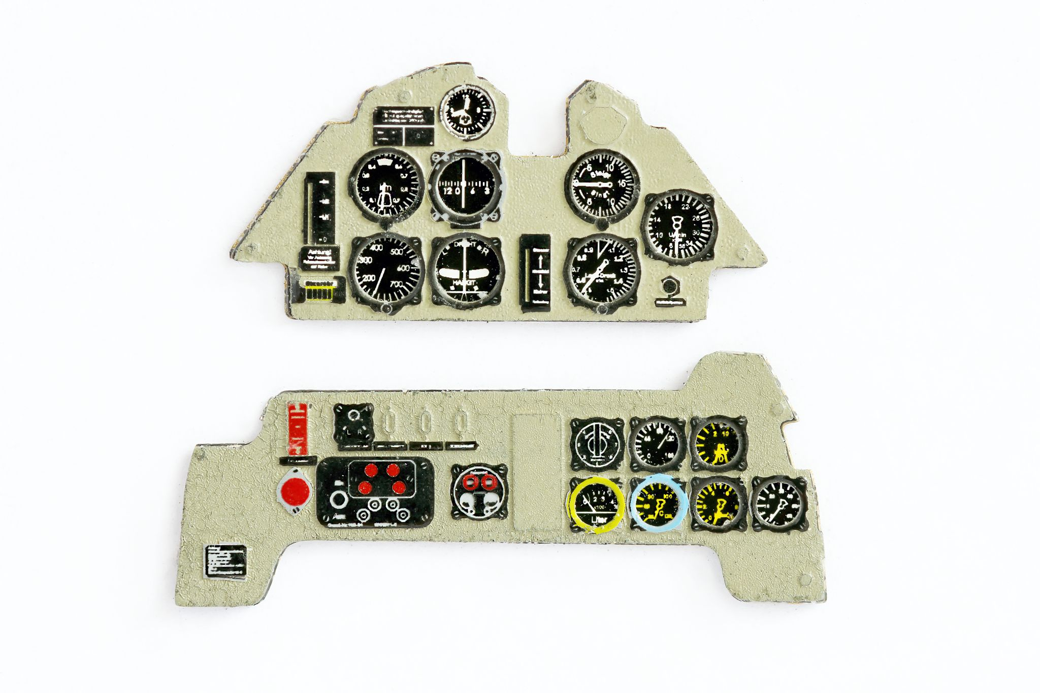 Me 109 B Coloured Photoetch Instrument Panels - ''JustStick'' Ready to fit (designed for Special Hobby/Classic Airframes kits) 1:48 Yahu Models