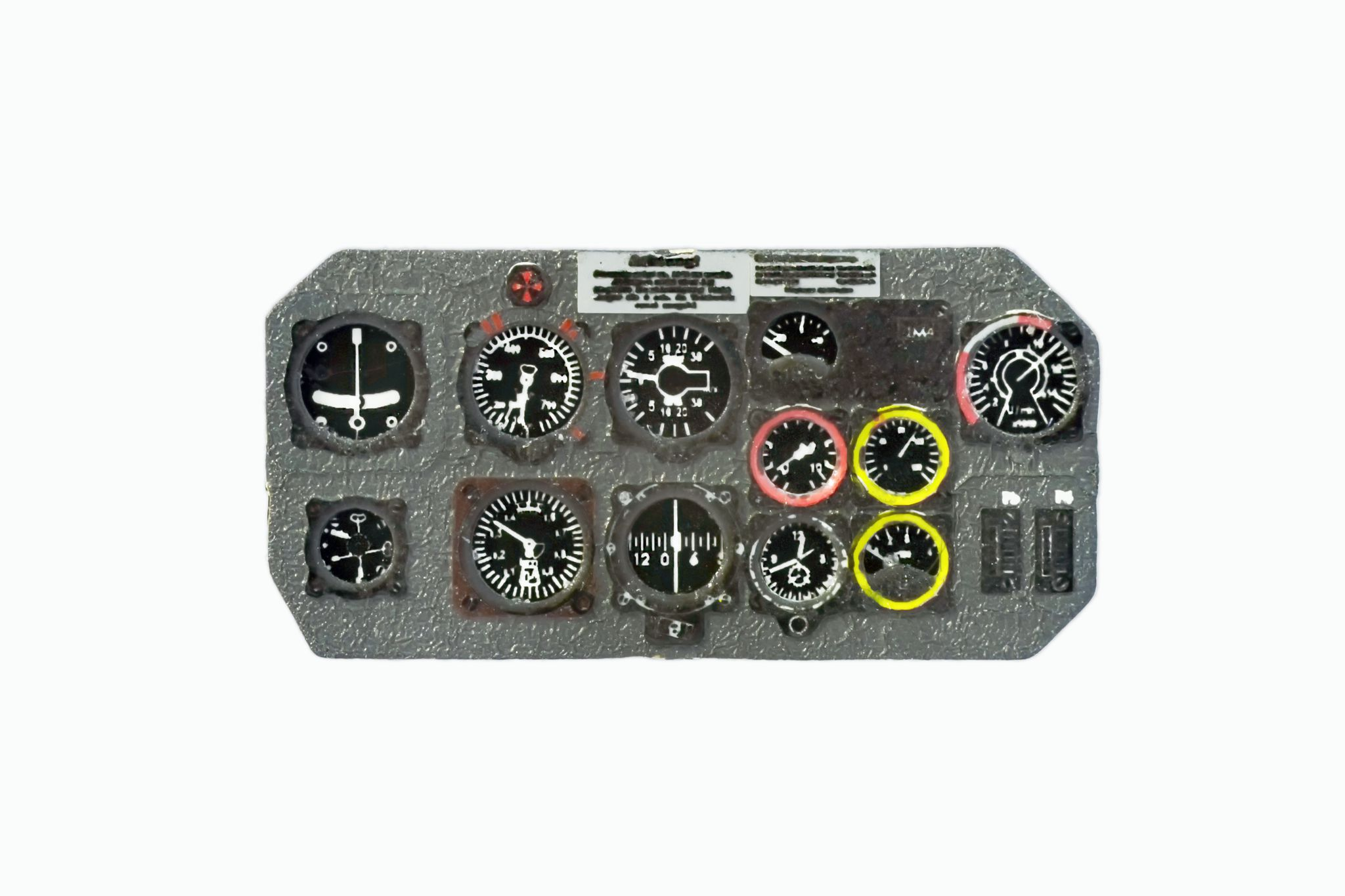 He-162 Coloured Photoetch Instrument Panels - ''JustStick'' Ready to fit (designed for Tamiya/Dragon/Trimaster kits) 1:48 Yahu Models