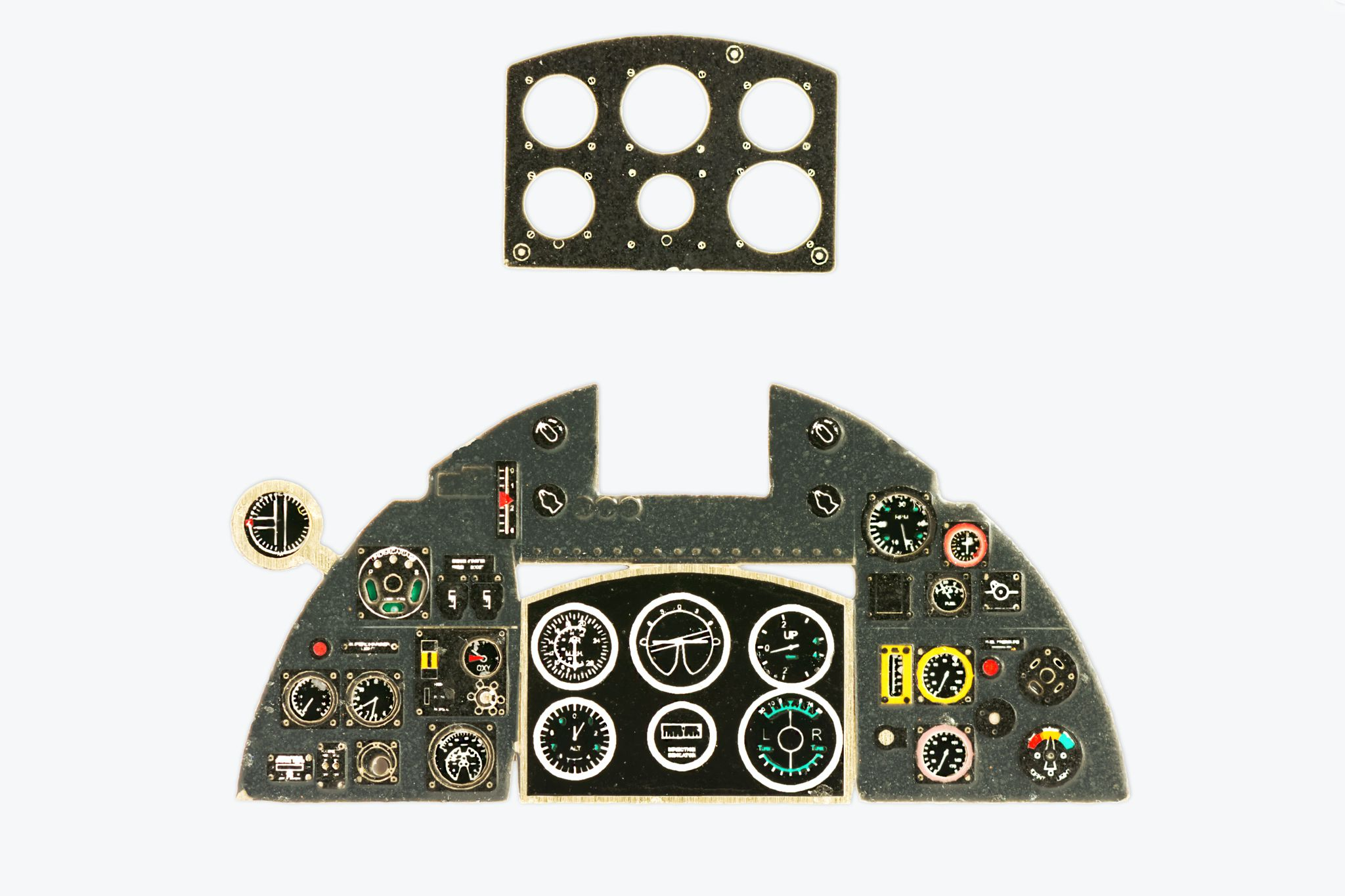 Typhoon Mk I Coloured Photoetch Instrument Panels - ''JustStick'' Ready to fit (designed for Hasegawa/Eduard/Italeri kits) 1:48 Yahu Models