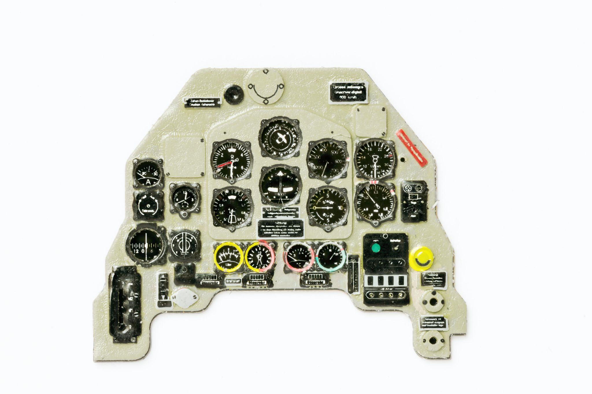 Ju-87 B-1 Coloured Photoetch Instrument Panels - ''JustStick'' Ready to fit (designed for Airfix kits) 1:48 Yahu Models