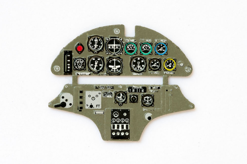 Hs-123 Coloured Photoetch Instrument Panels - ''JustStick'' Ready to fit (designed for Gaspath Models kits) 1:48 Yahu Models
