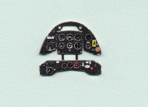 Gladiator Mk.II late Coloured Photoetch Instrument Panels - ''JustStick'' Ready to fit (designed for Airfix / Sword / Pavla kits) 1:72 Yahu Models
