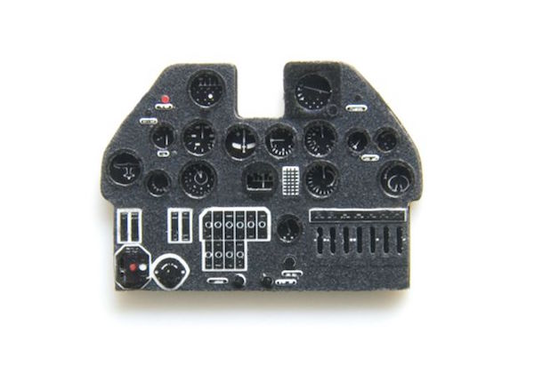 P-40E Coloured Photoetch Instrument Panels - ''JustStick'' Ready to fit (designed for AZ Model kits) 1:72 Yahu Models