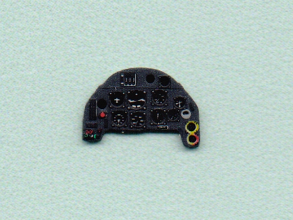 Me Bf109G-6 Coloured Photoetch Instrument Panels - ''JustStick'' Ready to fit (designed for AZ Model kits) 1:72 Yahu Models
