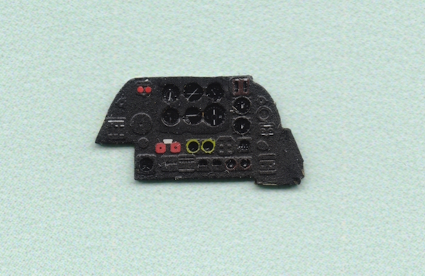 Beaufighter Mk.VI Coloured Photoetch Instrument Panels - ''JustStick'' Ready to fit (designed for Hasegawa kits) 1:72 Yahu Models
