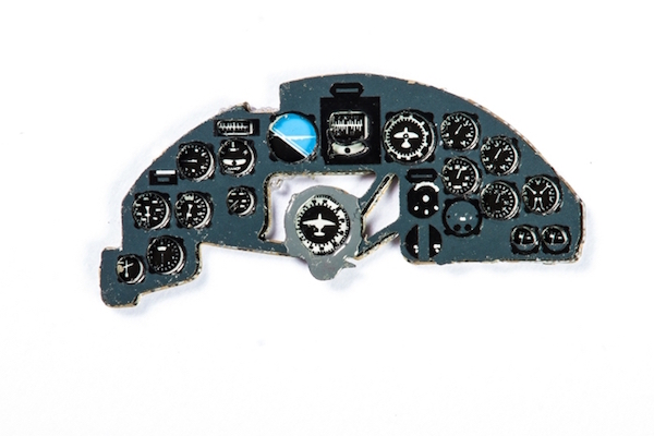 Ju88C-6 Coloured Photoetch Instrument Panels - ''JustStick'' Ready to fit (designed for Revell kits) 1:72 Yahu Models