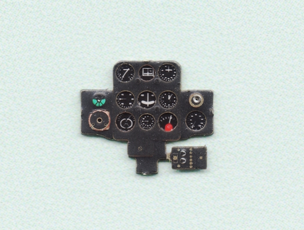 I-153 Coloured Photoetch Instrument Panels - ''JustStick'' Ready to fit (designed for Heller / ICM kits) 1:72 Yahu Models
