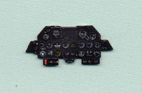 P-47D late Coloured Photoetch Instrument Panels - ''JustStick'' Ready to fit (designed for Tamyia kits) 1:72 Yahu Models