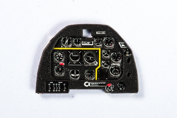 P-51D early Coloured Photoetch Instrument Panels - ''JustStick'' Ready to fit (designed for Airfix / Tamyia kits) 1:72 Yahu Models