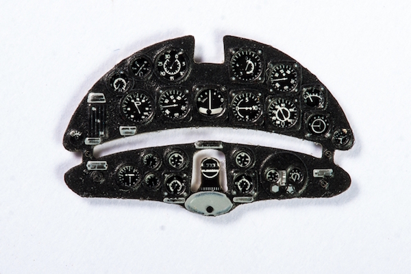 Fiat G.50 Coloured Photoetch Instrument Panels - ''JustStick'' Ready to fit (designed for AML kits) 1:72 Yahu Models