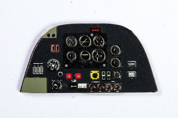 Beaufighter Mk.X Coloured Photoetch Instrument Panels - ''JustStick'' Ready to fit (designed for Airfix kits) 1:72 Yahu Models