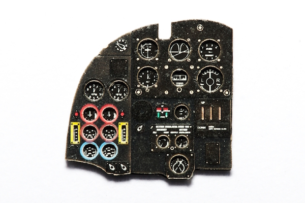 Mosquito NF.II / FB VI Coloured Photoetch Instrument Panels - ''JustStick'' Ready to fit (designed for Tamiya / Hasegawa-Revell kits) 1:72 Yahu Models