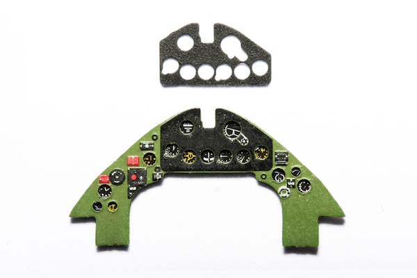 F4F Wildcat Coloured Photoetch Instrument Panels - ''JustStick'' Ready to fit (designed for Airfix / Hasegawa / Hobby Boss kits) 1:72 Yahu Models