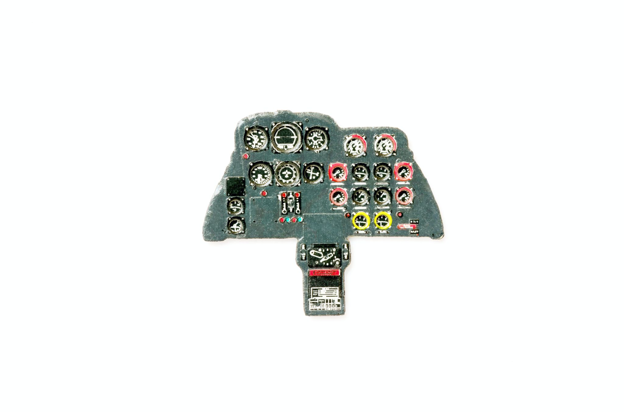 Me-262 A Coloured Photoetch Instrument Panels - ''JustStick'' Ready to fit (designed for Airfix 2017 kits) 1:72 Yahu Models