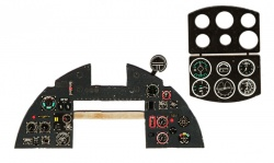 Typhoon late Coloured Photoetch Instrument Panels - ''JustStick'' Ready to fit (designed for Airfix kits) 1:24 Yahu Models
